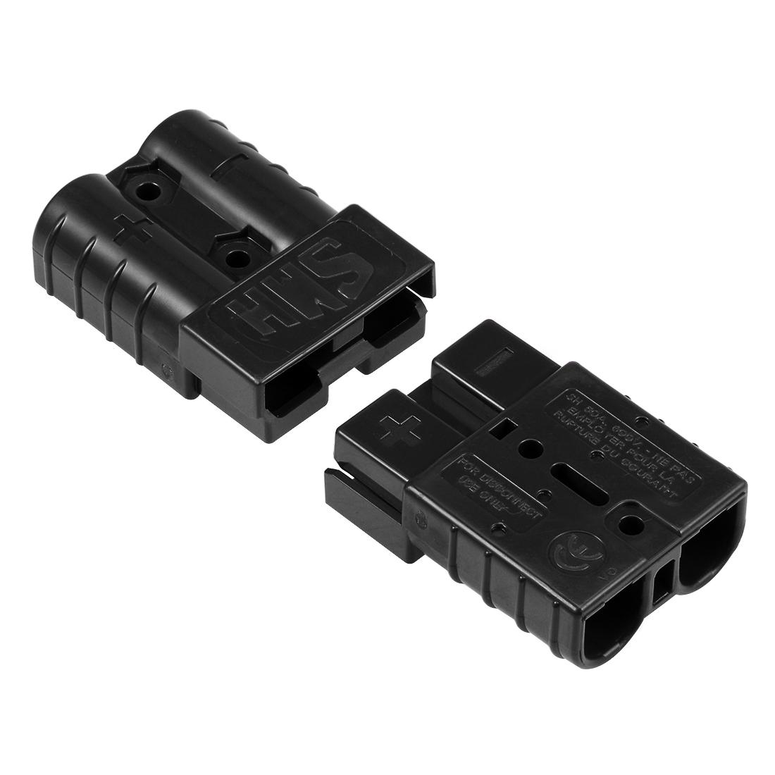 6 Gauge Battery Quick Connect Disconnect 50A Wire Connector, Black, 2pcs