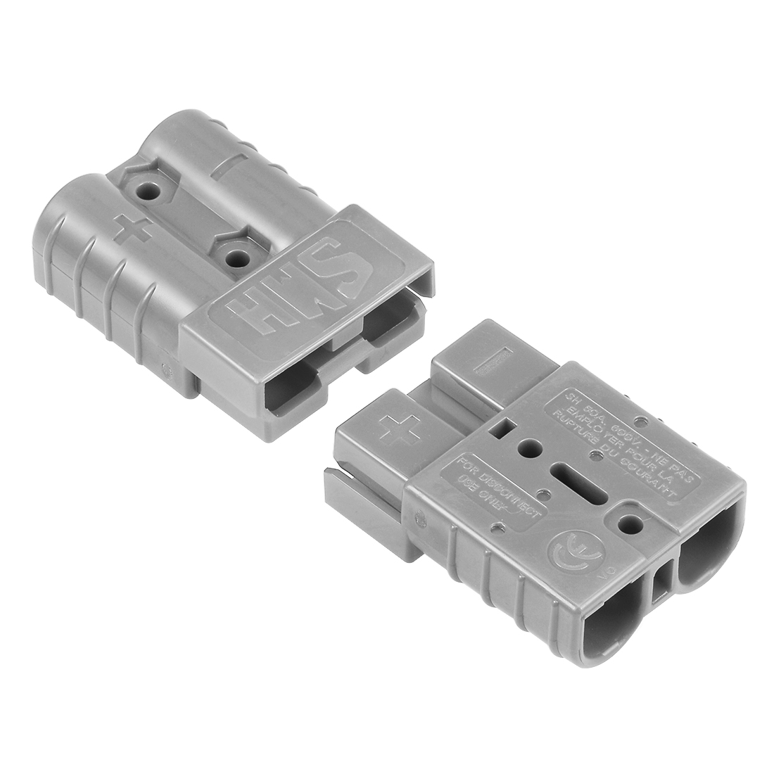 6 Gauge Battery Quick Connect Disconnect 50A Wire Connector, Grey, 2pcs