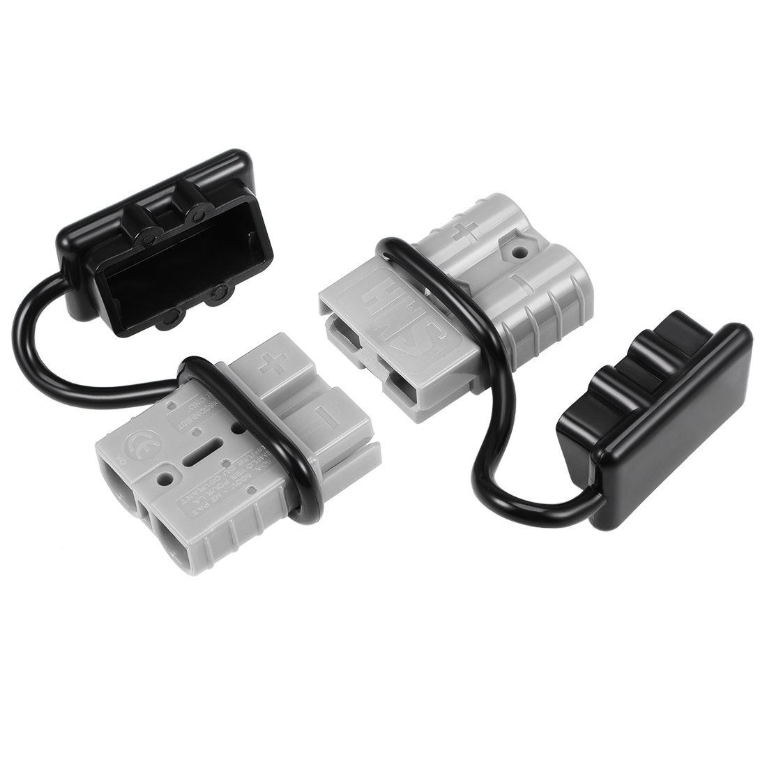 6 Gauge Battery Quick Connect Disconnect Kit 50A Wire Connector, Grey 2pcs