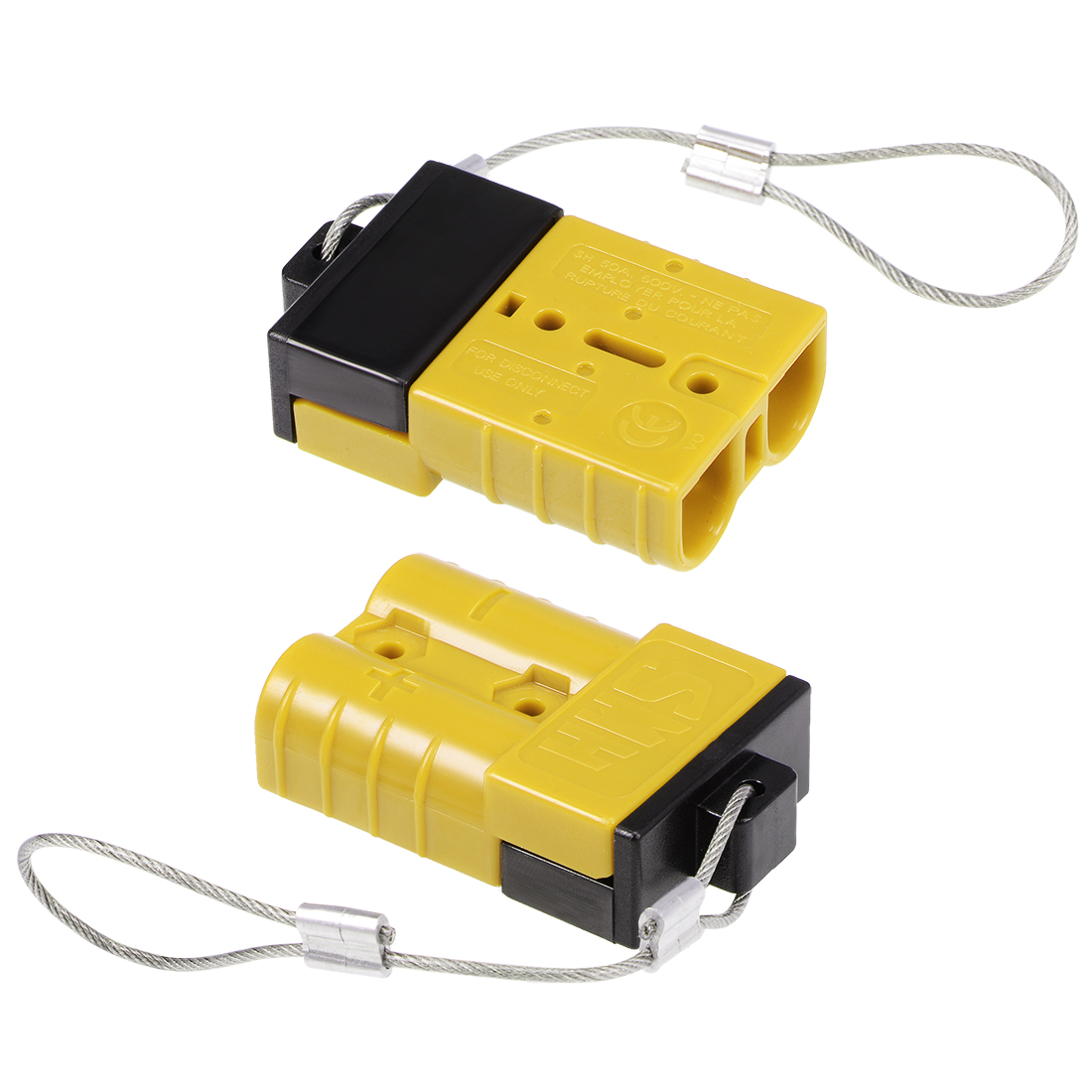 6 Gauge Battery Quick Connect Disconnect 50A Wire Harness Connector Yellow 2pcs