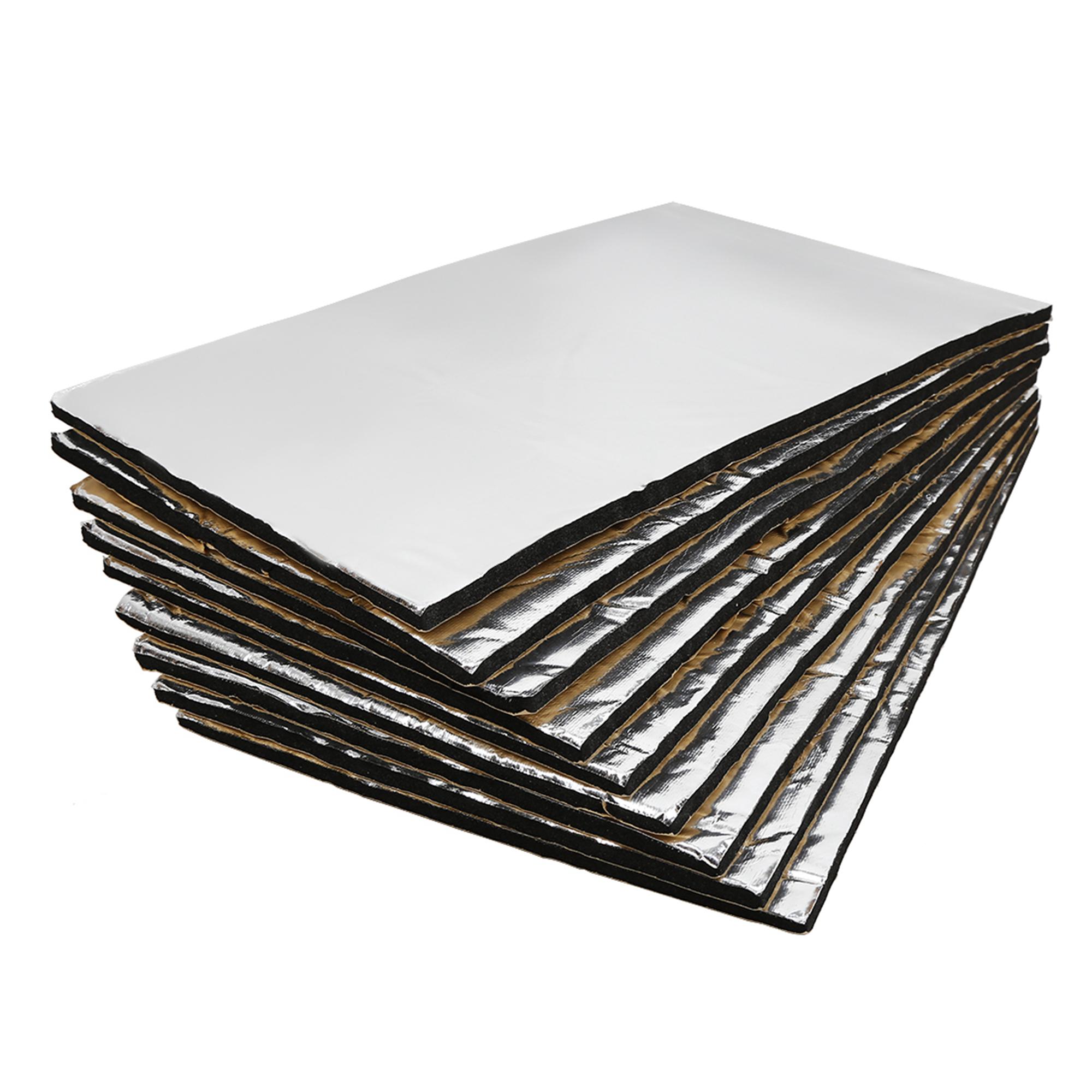14.4sqft Sound Deadener Noise Insulation Mat Acoustic Barrier 9pcs 50cm x 30cm