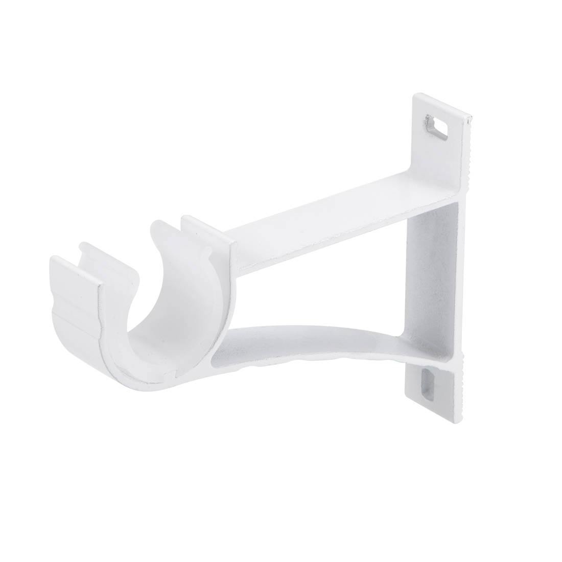 Curtain Rod Bracket Single Holder for 24mm Rod 108 x 82 x 19mm Milky White
