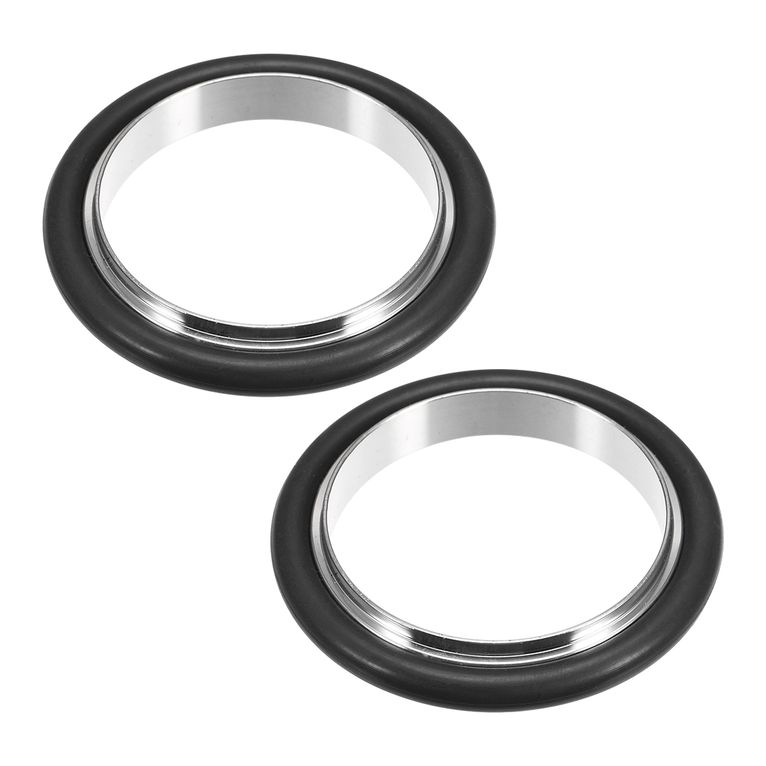 2Pcs Centering Ring KF-40 Vacuum Fittings ISO-KF Flange 53mm x 39mm Fluororubber