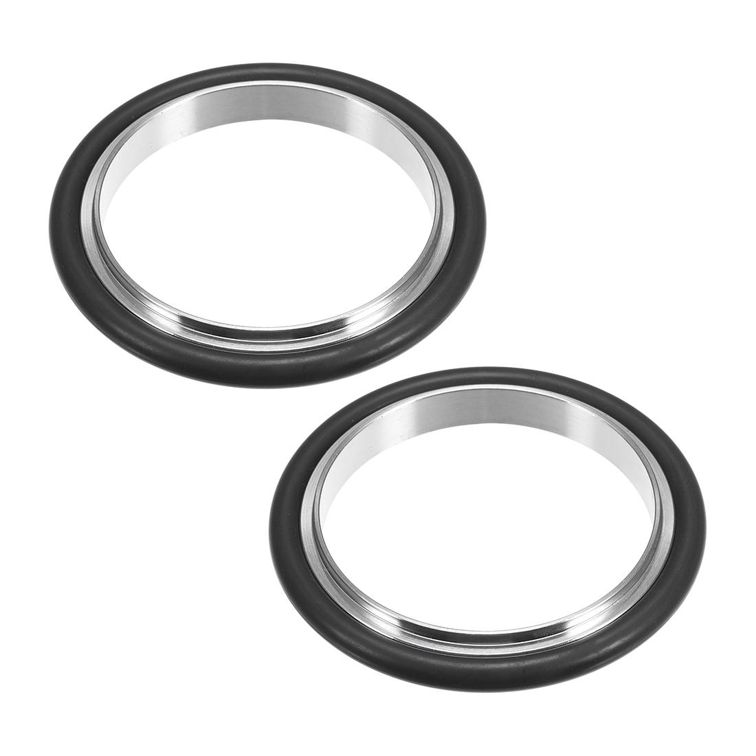 2 Pcs Centering Ring KF-16 Vacuum Fittings ISO-KF Flange 66mm x 49.7mm