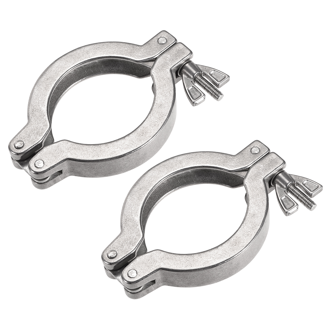 2Pcs Sanitary -Clamp 82mm x 57mm Single Pin Clamp Wing Nut for Ferrule TC