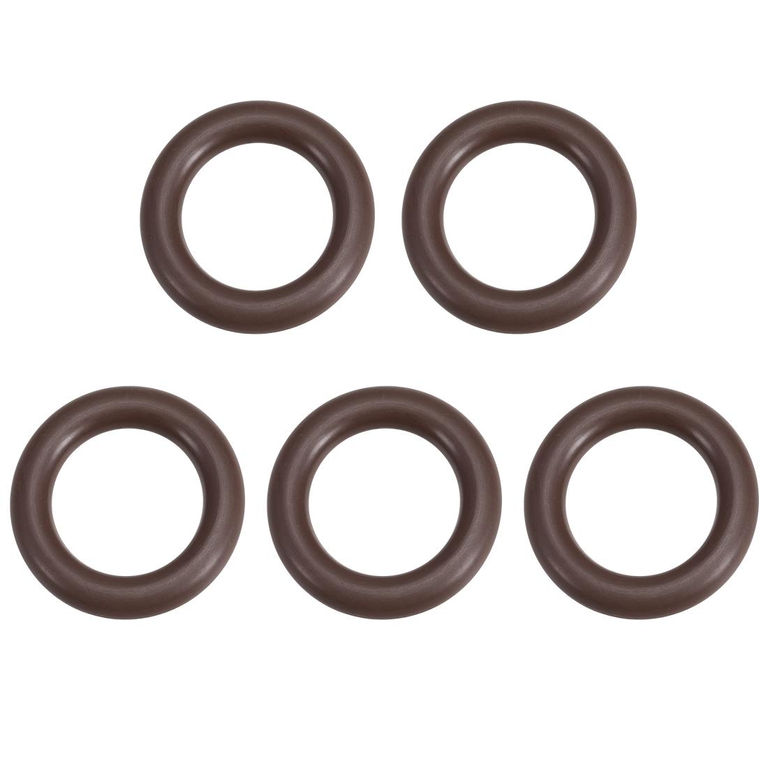5x Fluorine Rubber O-Rings 24mm OD 14mm ID 5.3mm Width Metric FKM Sealing Gasket
