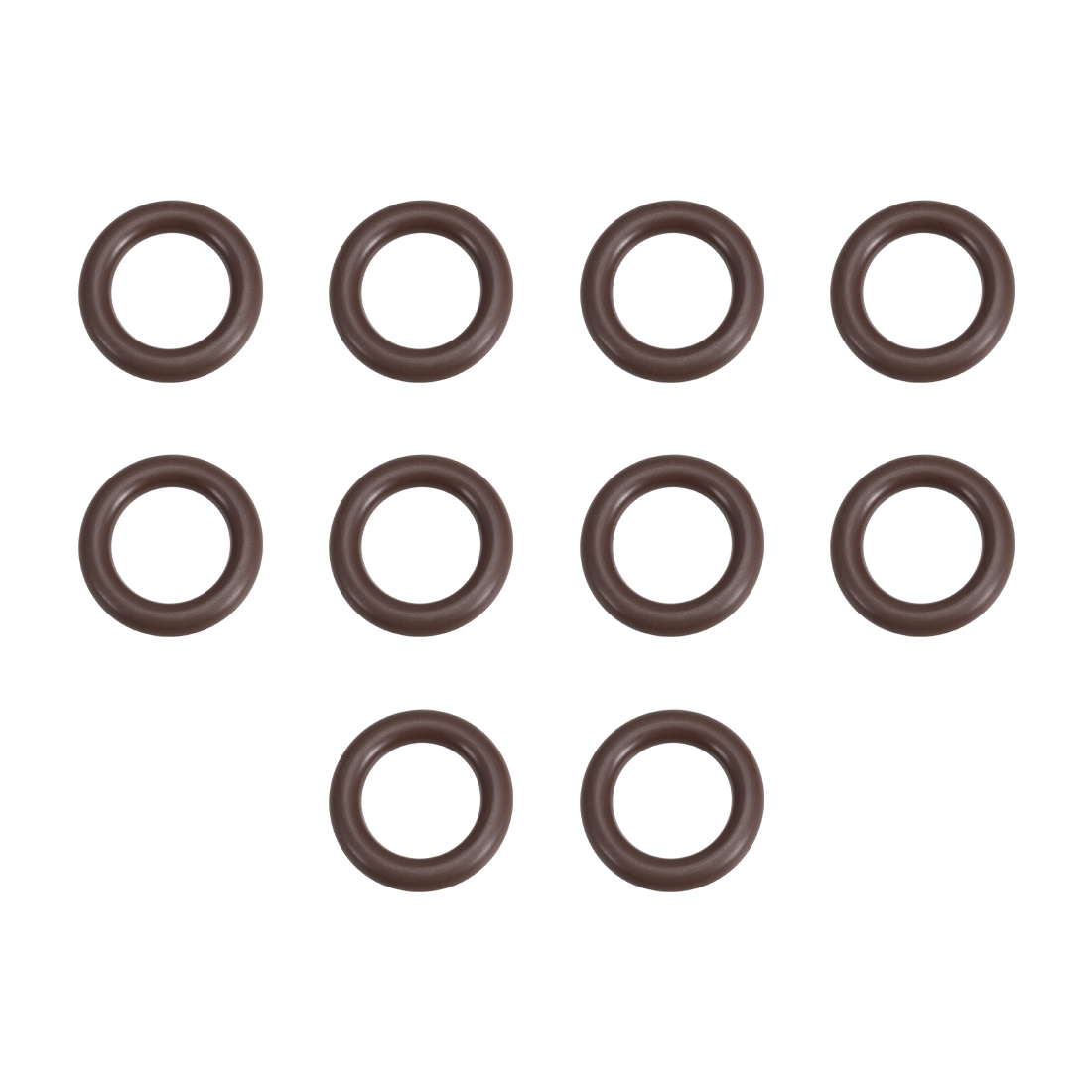 10 Pcs Fluororubber Gasket Sanitary Clamp Washer 24mm x 14mm O-Ring