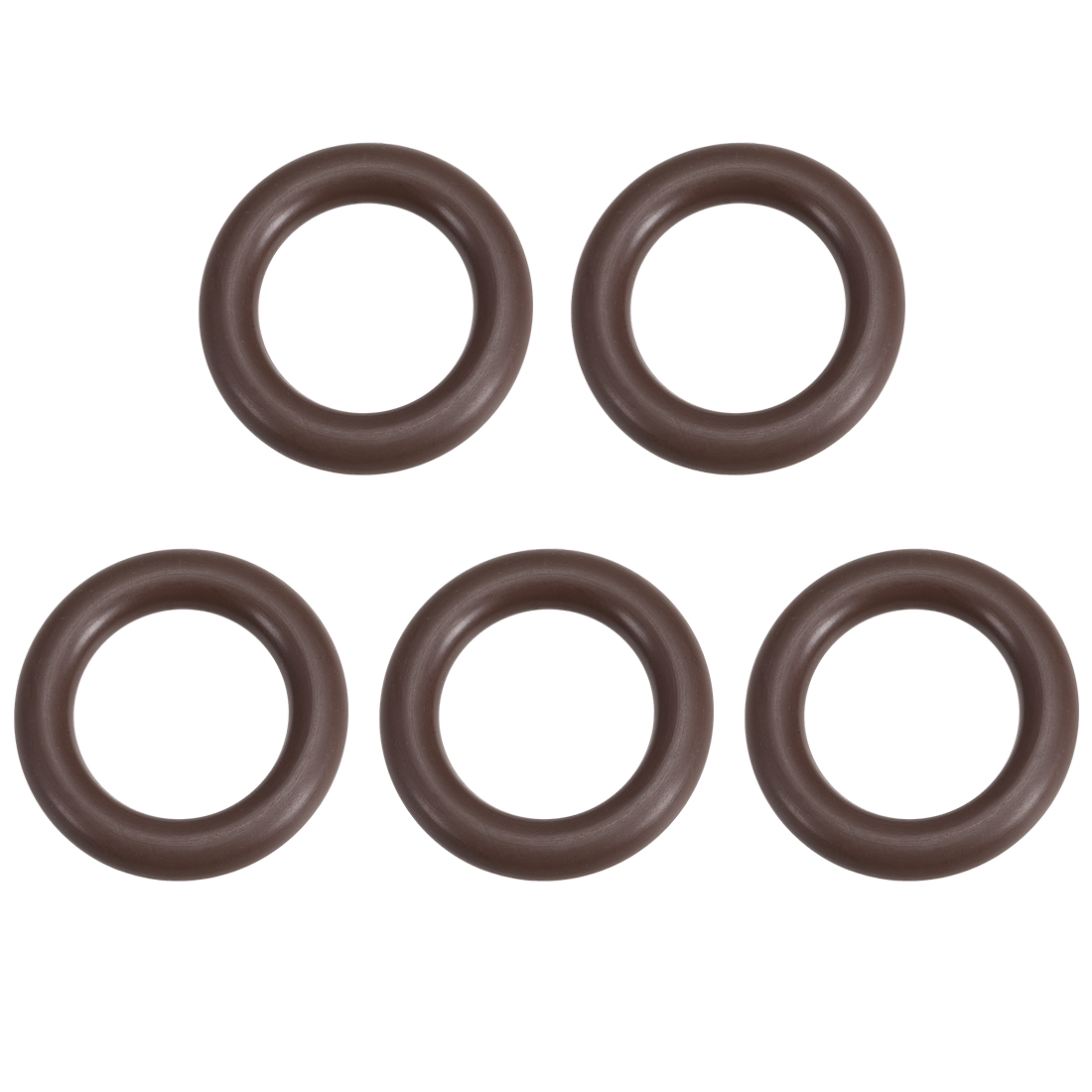 5 Pcs Fluororubber Gasket Sanitary Clamp Washer 29mm x 18.4mm O-Ring