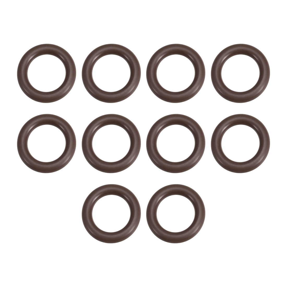 10 Pcs Fluororubber Gasket Sanitary Clamp Washer 29mm x 18.4mm O-Ring
