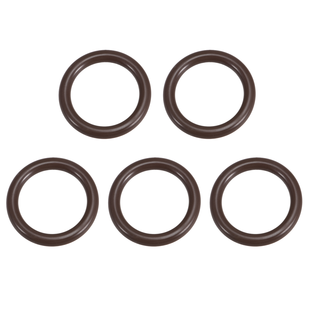 5 Pcs Fluororubber Gasket Sanitary Clamp Washer 39mm x 28.4mm O-Ring