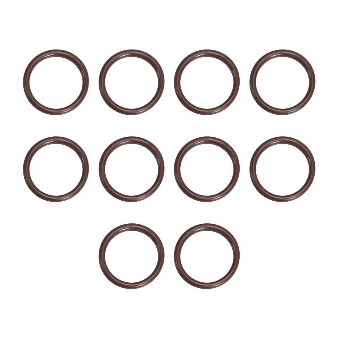 10 Pcs Fluororubber Gasket Sanitary Clamp Washer 52mm x 41mm O-Ring