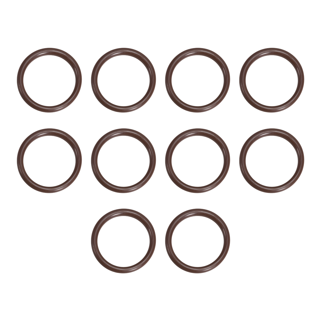 10 Pcs Fluororubber Gasket Sanitary Clamp Washer 63mm x 53mm O-Ring