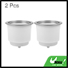 2pcs Plastic Recessed Cup Holder with Drain for Car Marine RV Boat Water Bottles