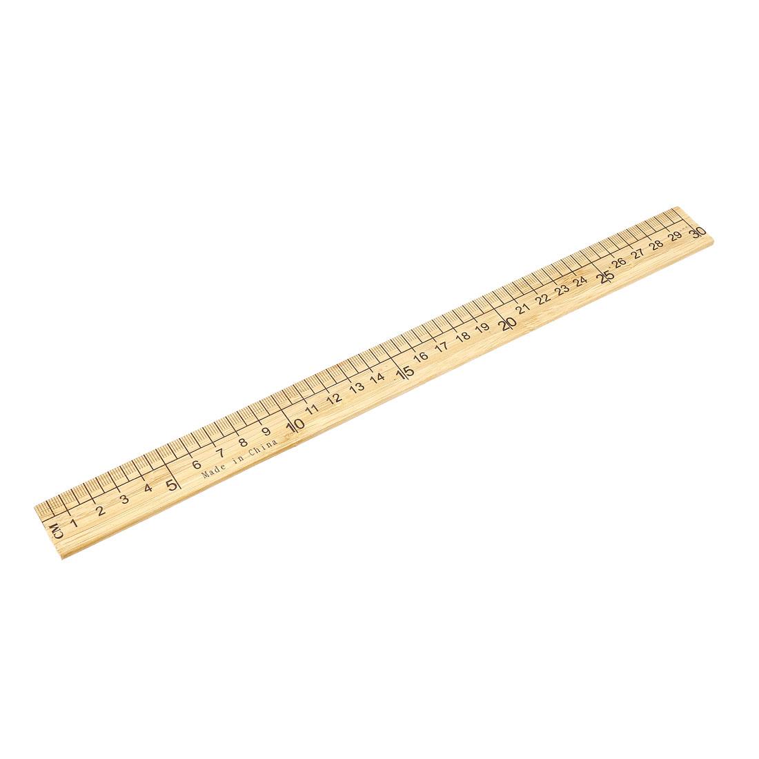 Straight Ruler 300mm 12 Inch Metric Measuring Tool Wood