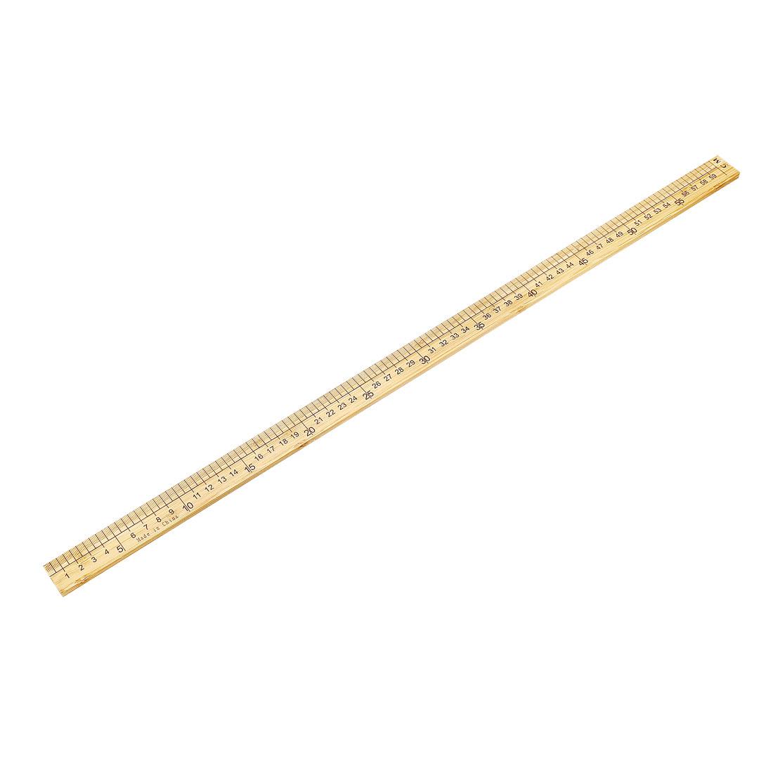 Straight Ruler 600mm 24 Inch Metric Measuring Tool Wood