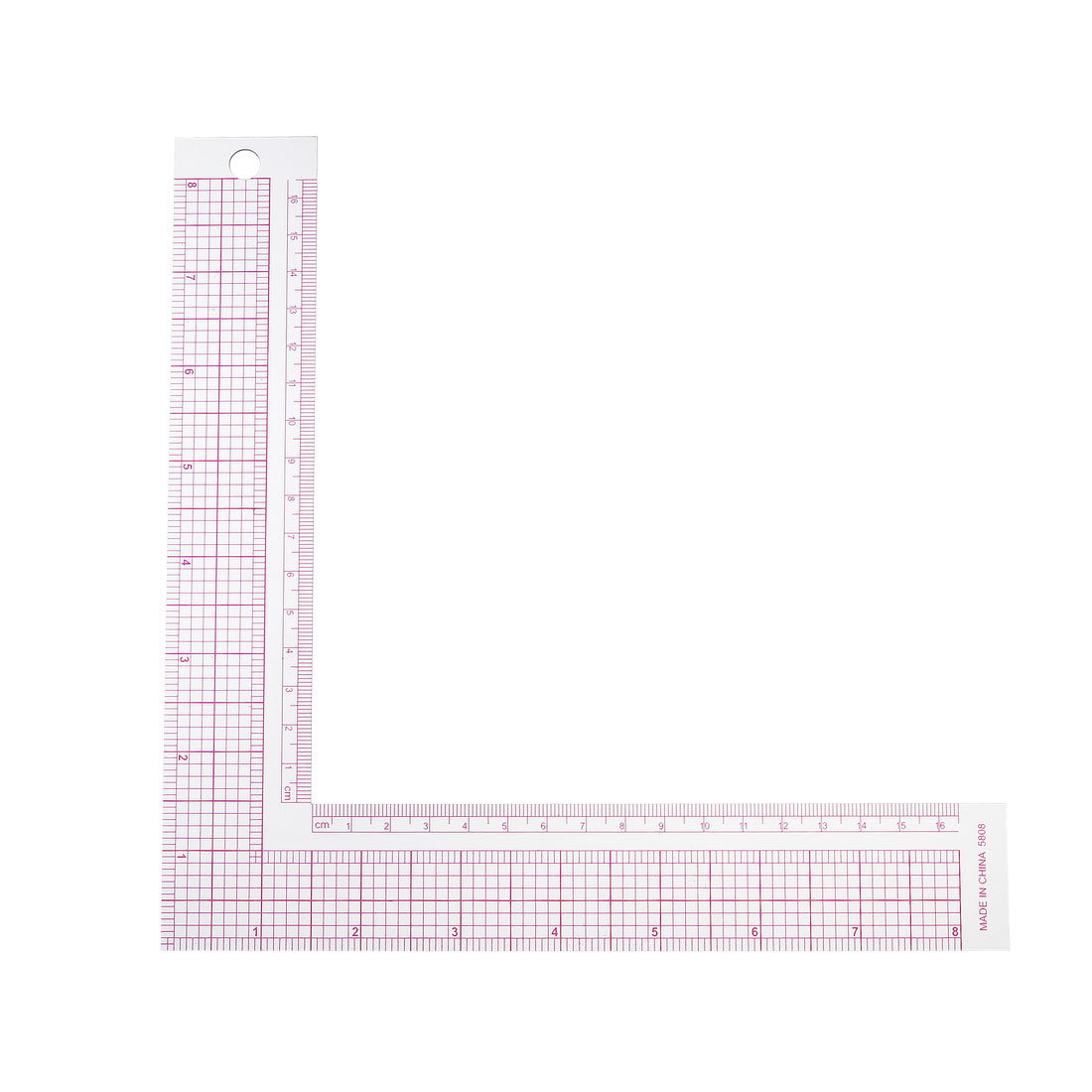 L-square Sewing Ruler 16cm 8 Inch French Curve Measure Tailor Craft Tool 5808