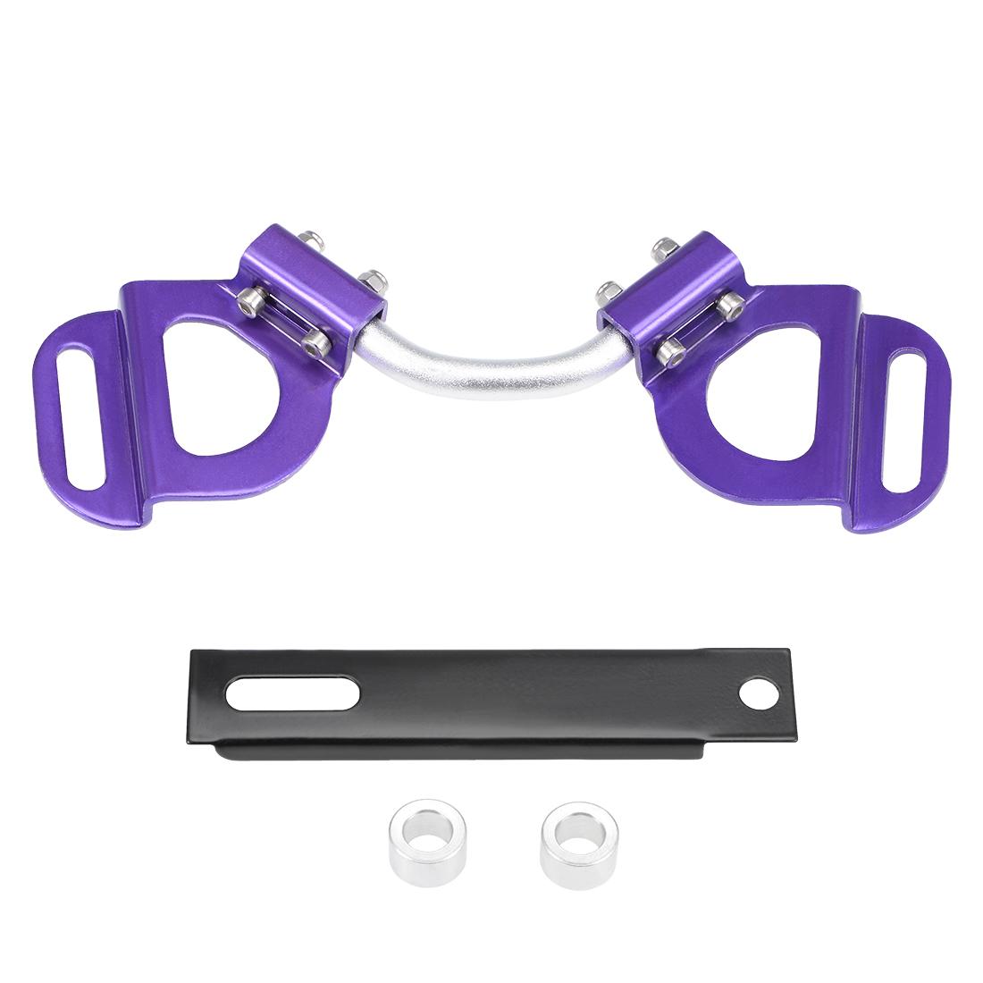 Car Battery Hold Down Bracket Aluminum Adjustable Holder, Purple