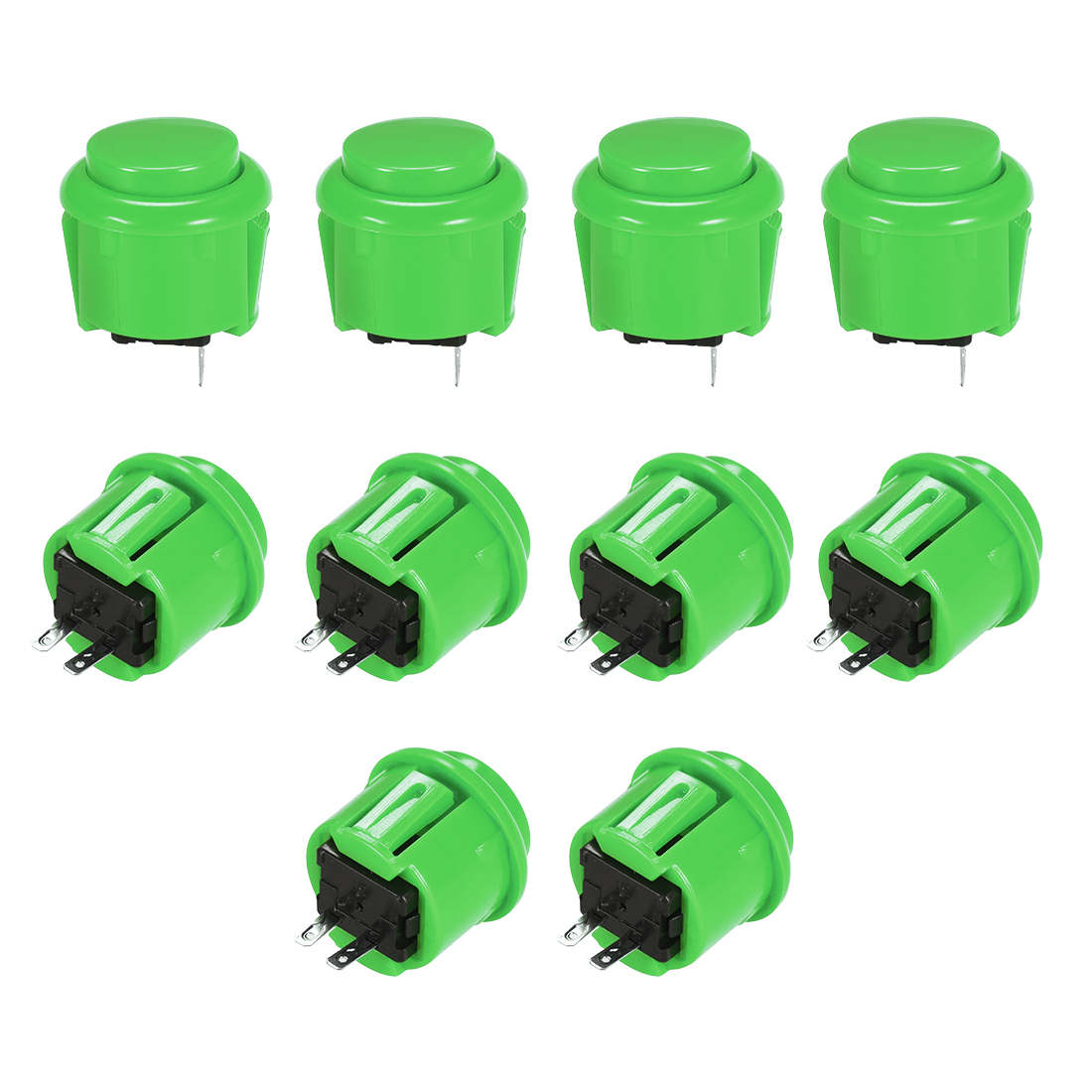 23mm Momentary Game Push Button Switch for Arcade Video Games Green 10pcs