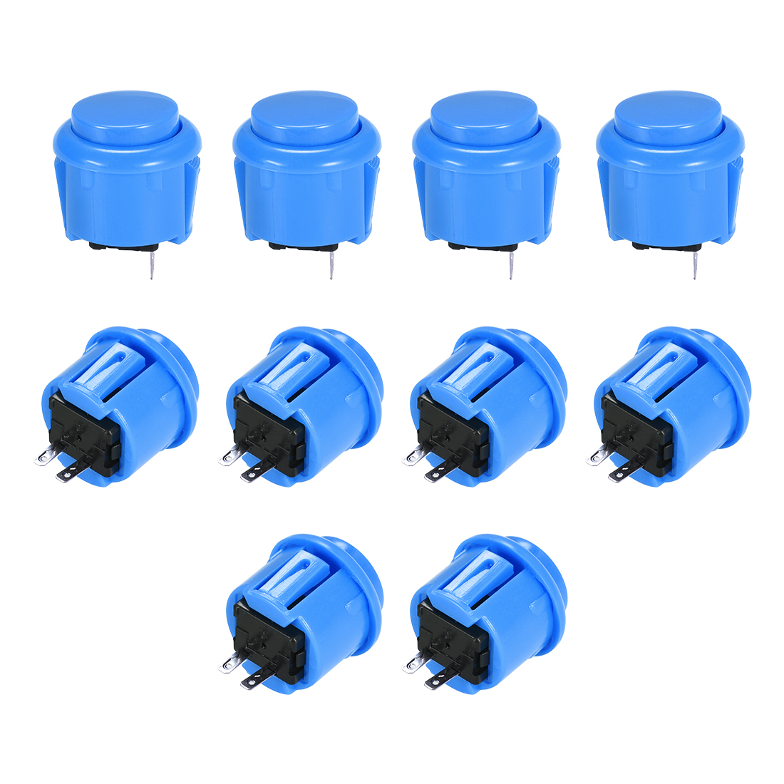 23mm Momentary Game Push Button Switch for Arcade Video Games Blue 10pcs