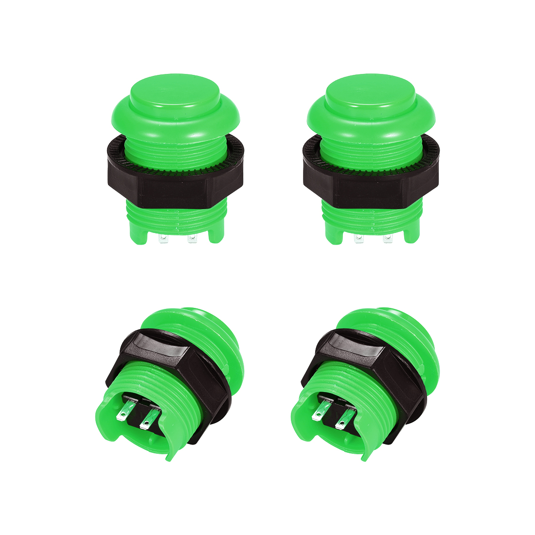 M28 Momentary Game Push Button Switch for Arcade Video Games Green 4pcs