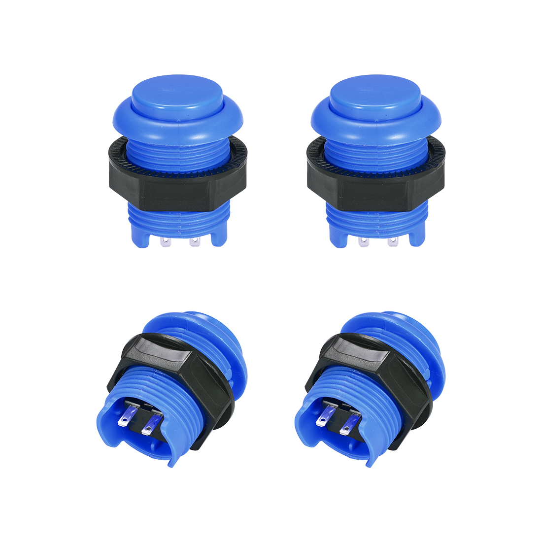 M28 Momentary Game Push Button Switch for Arcade Video Games Blue 4pcs