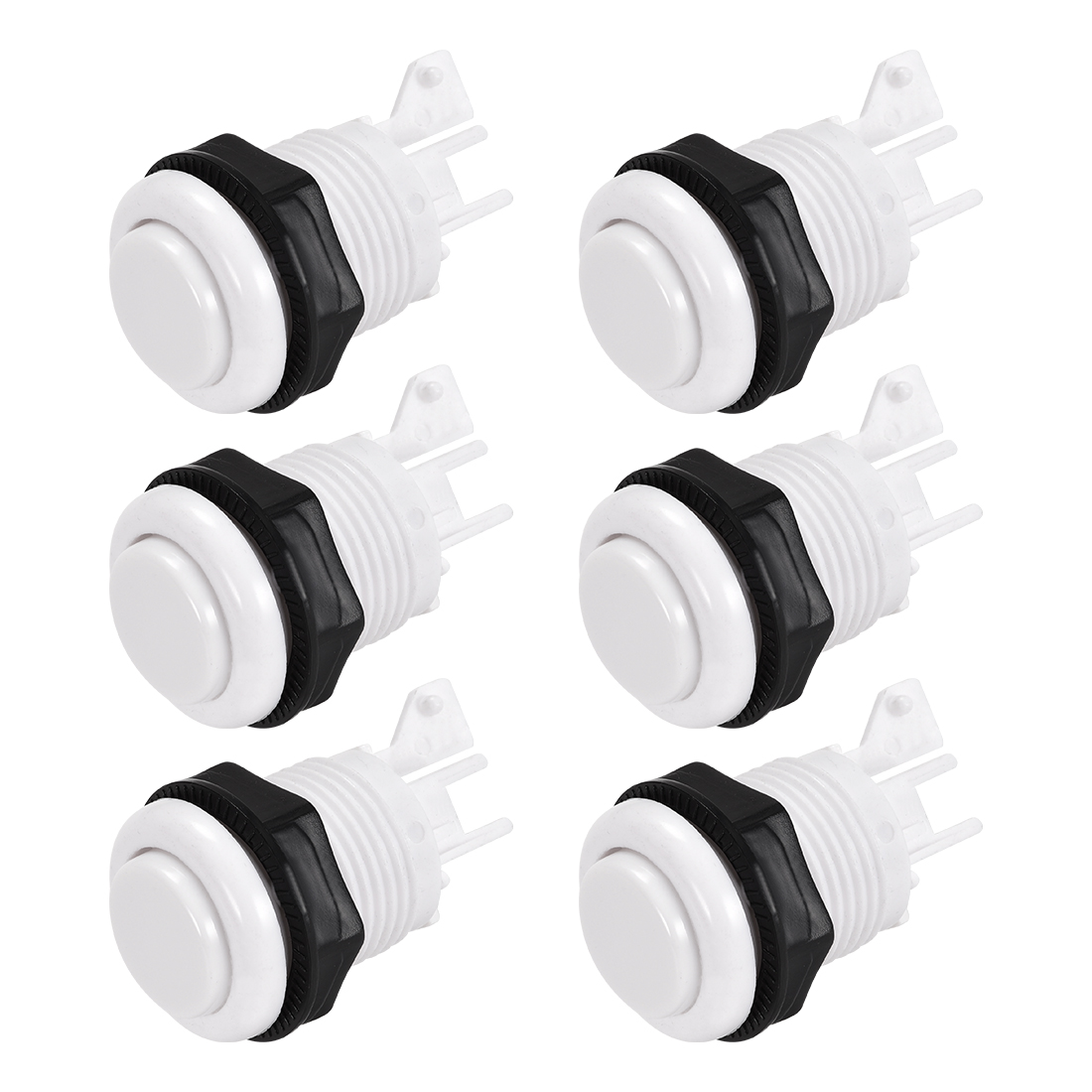27mm Mounting Game Push Button Switch Shell for Arcade Video Games White 6pcs