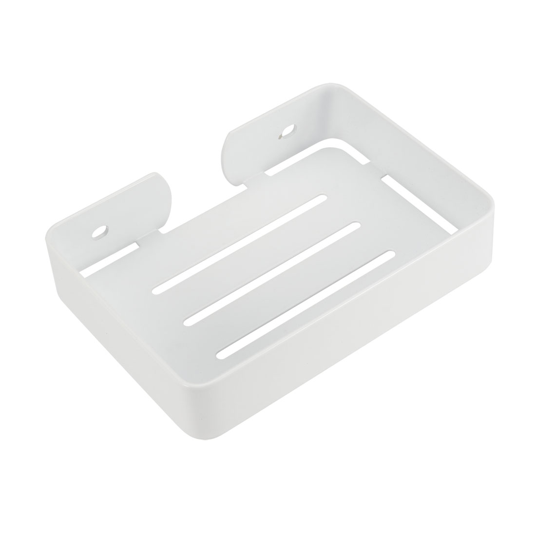 Soap Dish Holder SUS304 Stainless Steel Wall Mounted Tray (White)