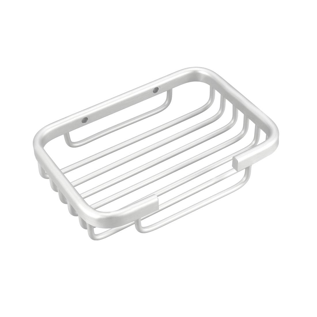 Soap Dish Holder Aluminum Wall Mounted Tray with Installation Kits (Silver)