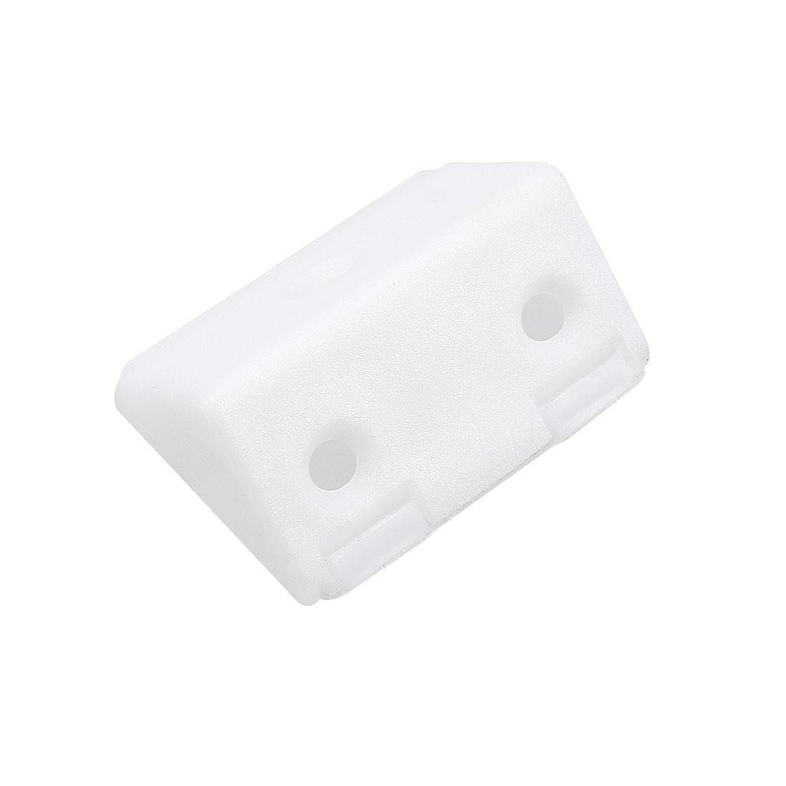 Shelf Cabinet Plastic Corner Braces 3 Holes Angle Brackets w Cover Cap, 10 Pcs