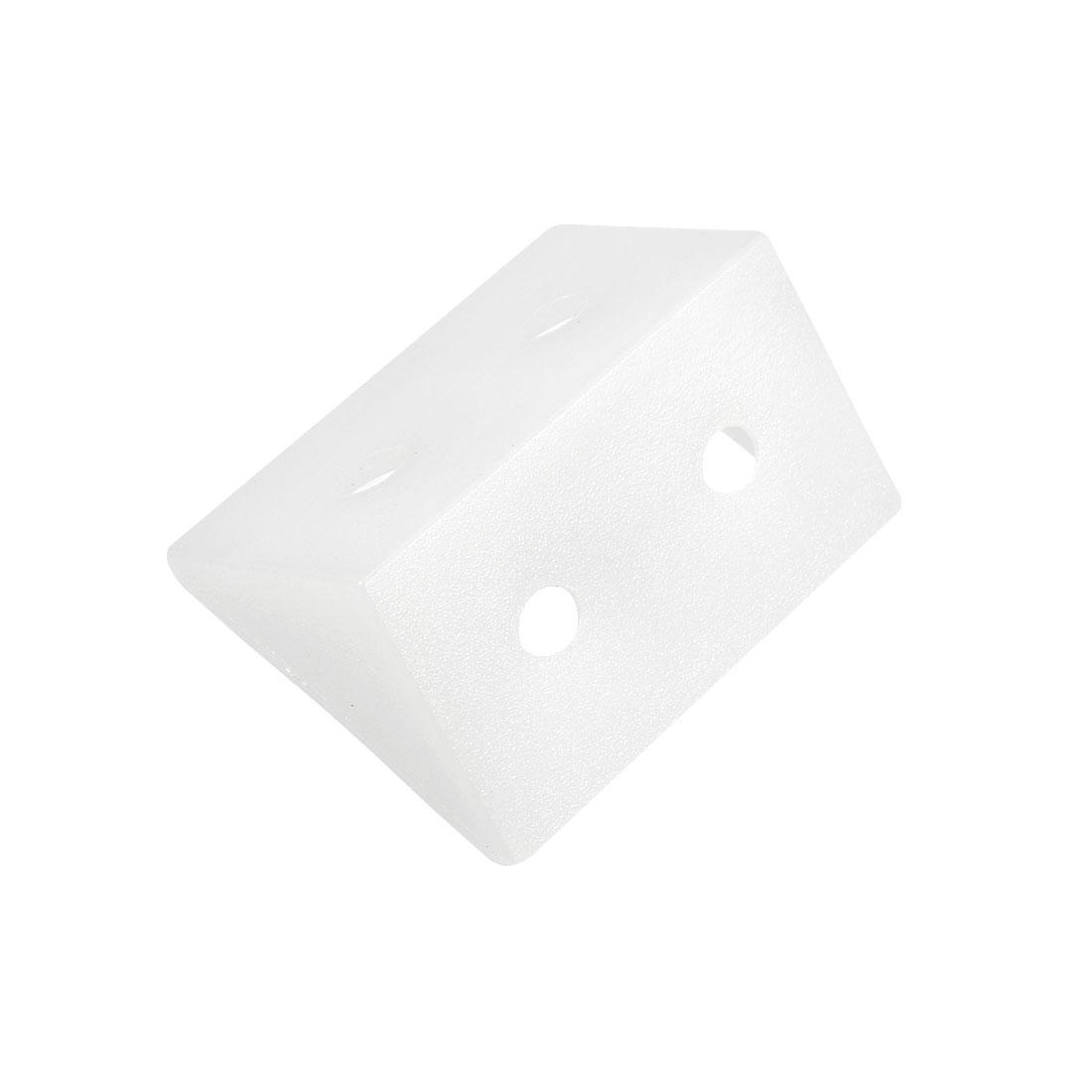 Shelf Cabinet Door 90 Degree Plastic Corner Braces 4 Holes Angle Bracket, 30 Pcs