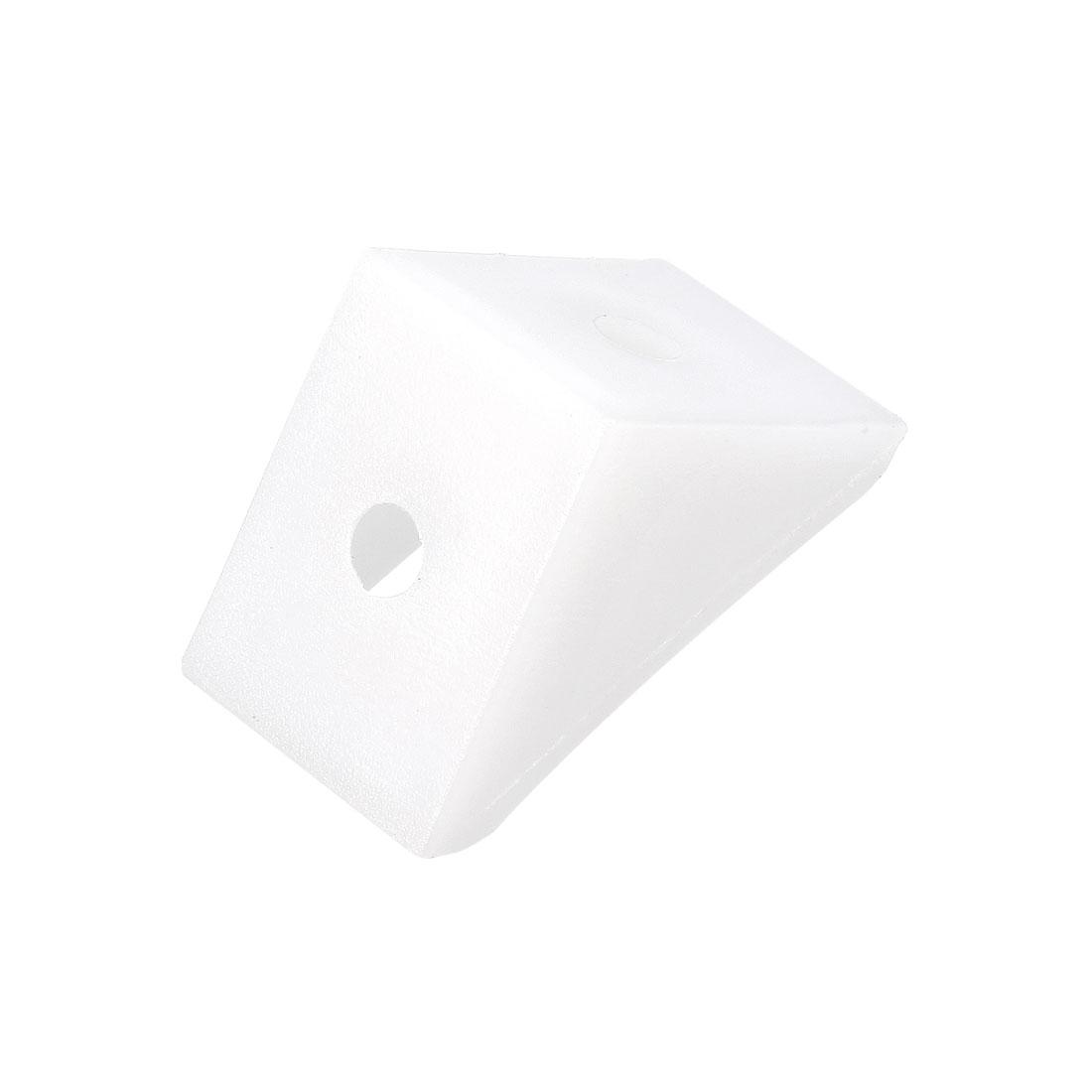 Shelf Cabinet Door 90 Degree Plastic Corner Braces 2 Holes Angle Bracket, 50 Pcs