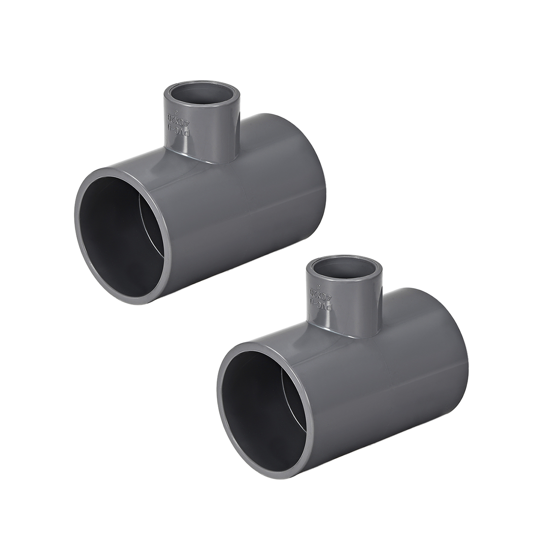 PVC Pipe Fitting Tee 401-Series Gray 3/4-inch X 1-1/2-inch Socket 2pcs