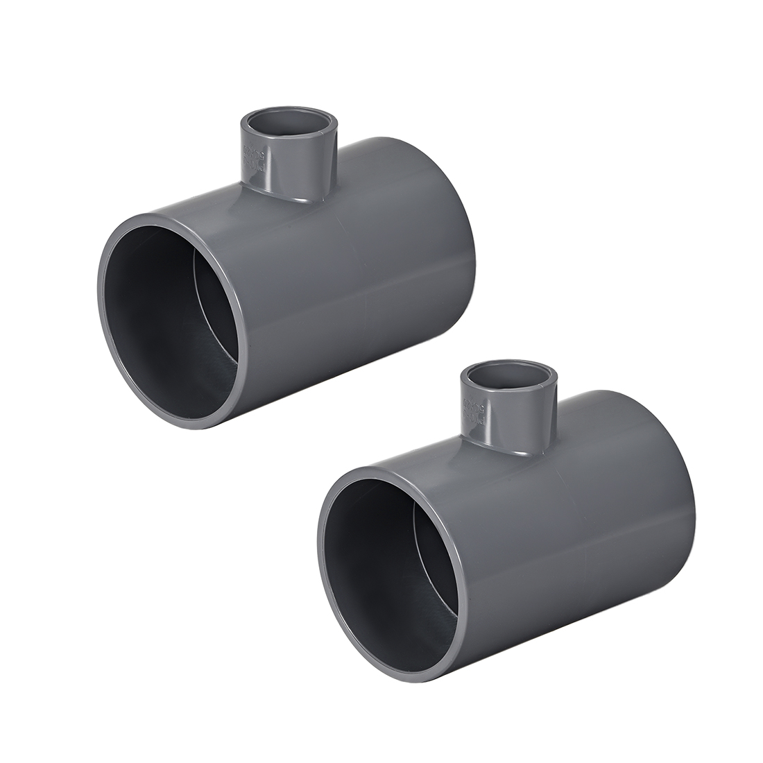 PVC Pipe Fitting Tee 401-Series Gray 3/4-inch X 2-inch Socket 2pcs
