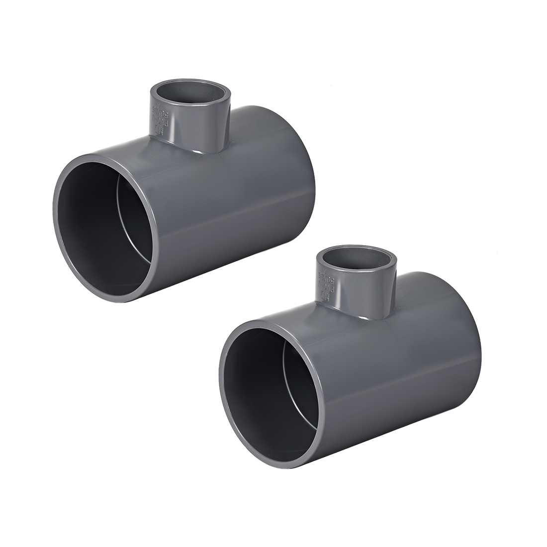 PVC Pipe Fitting Tee 401-Series Gray 1-inch X 2-inch Socket 2pcs