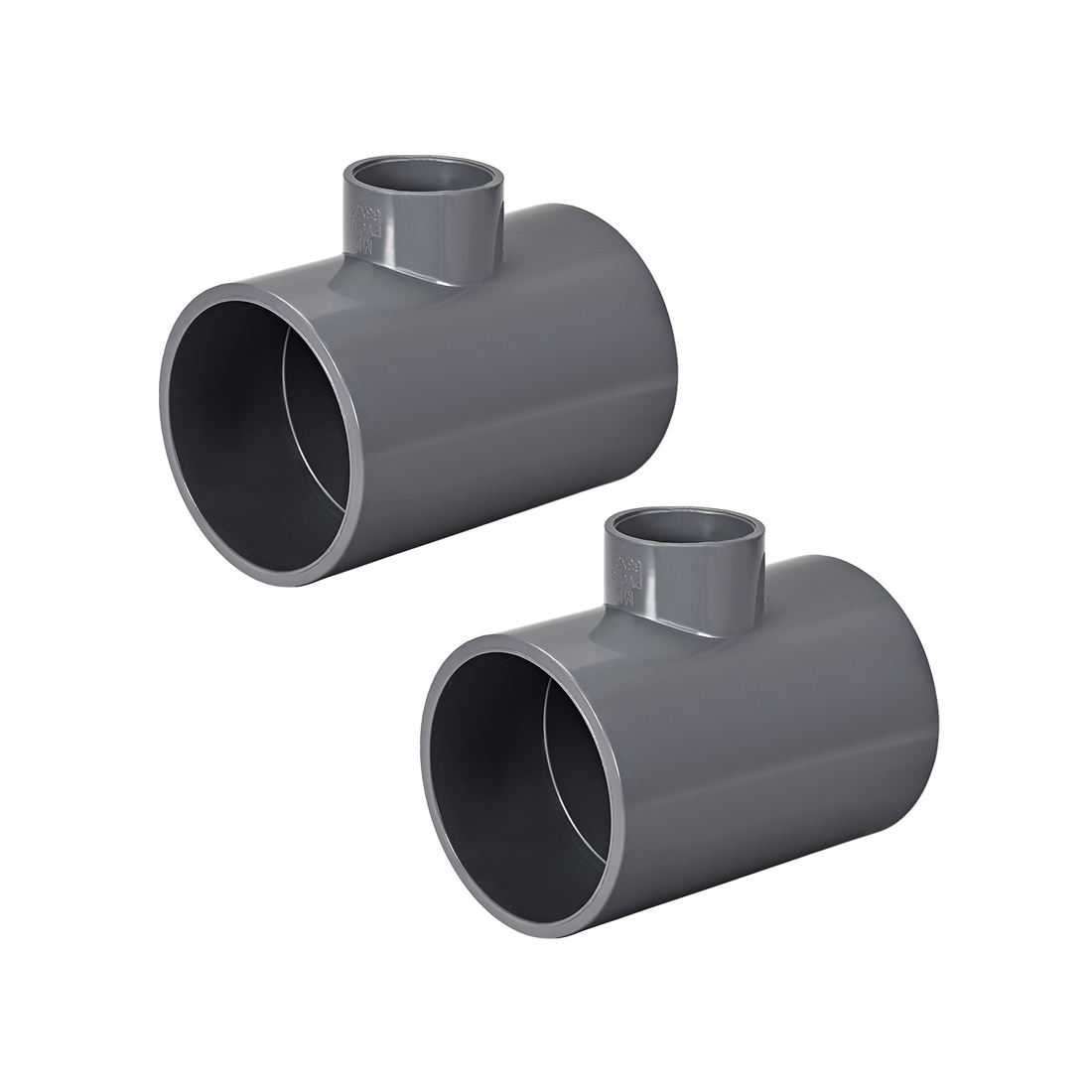 PVC Pipe Fitting Tee 401-Series Gray 1-1/4inch x 2-1/2inch Socket 2pcs