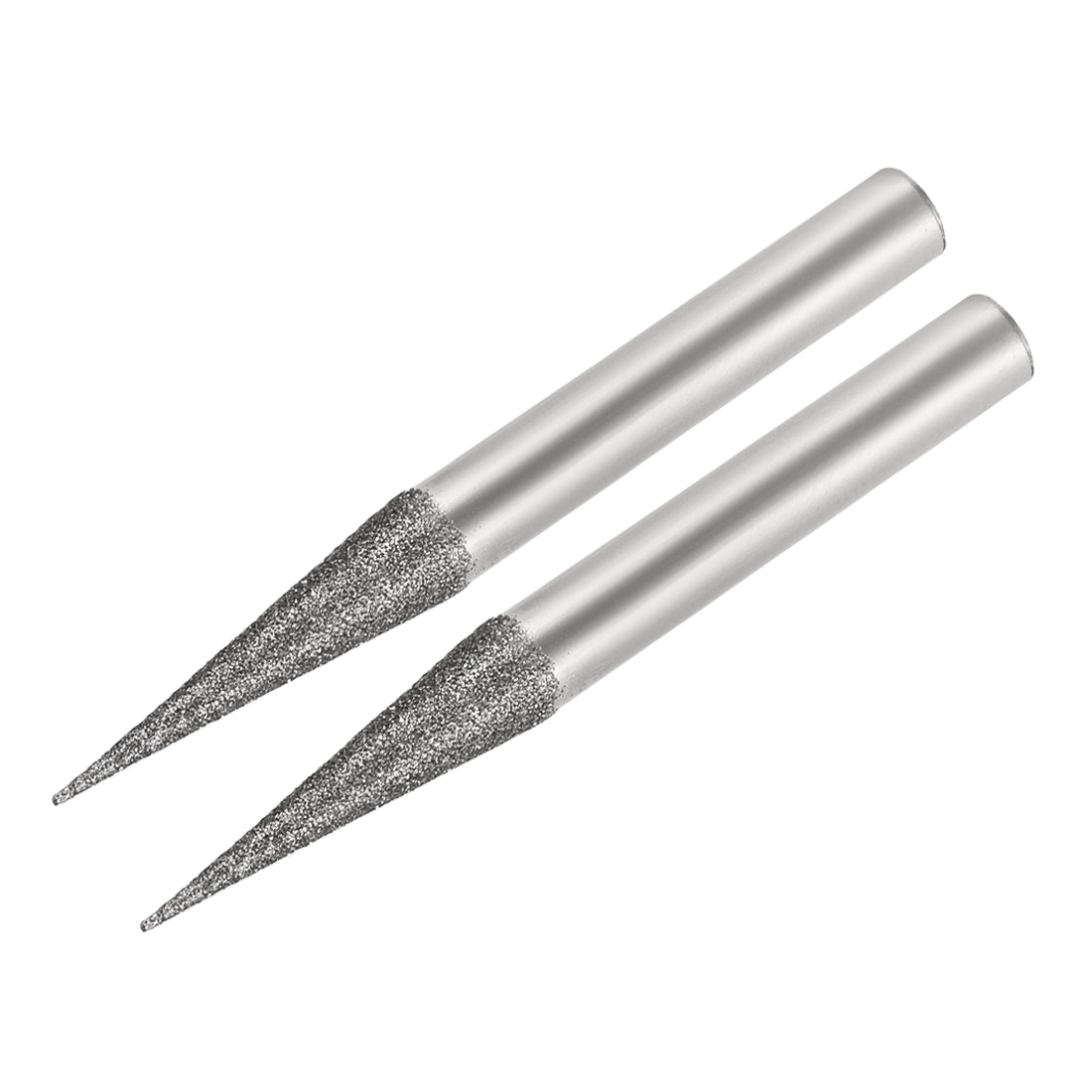 Diamond Burrs for Carving Rotary Tool 1/4-Inch Shank 6mm Pointed 150 Grit 2 Pcs