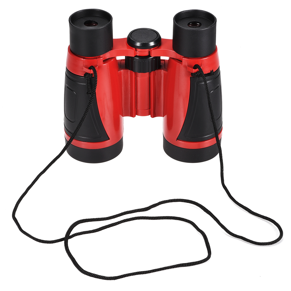 Toy Binoculars 5X30 Compact Foldable Binoculars Shockproof Red with Neck Strap