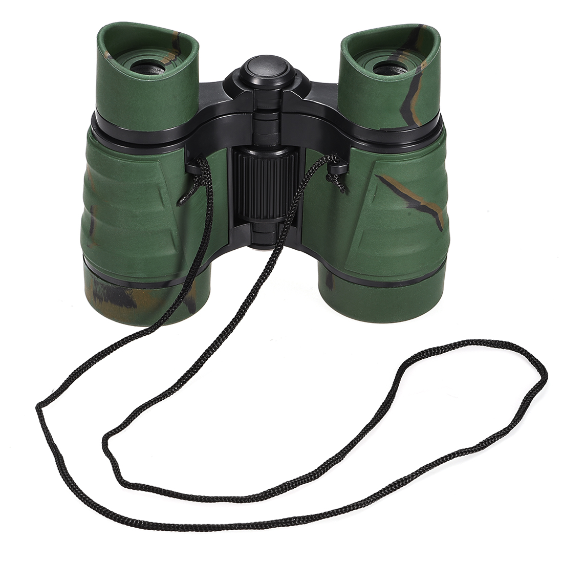 Toy Binoculars 4X30 Compact Foldable Binoculars Shock Proof Dark Green
