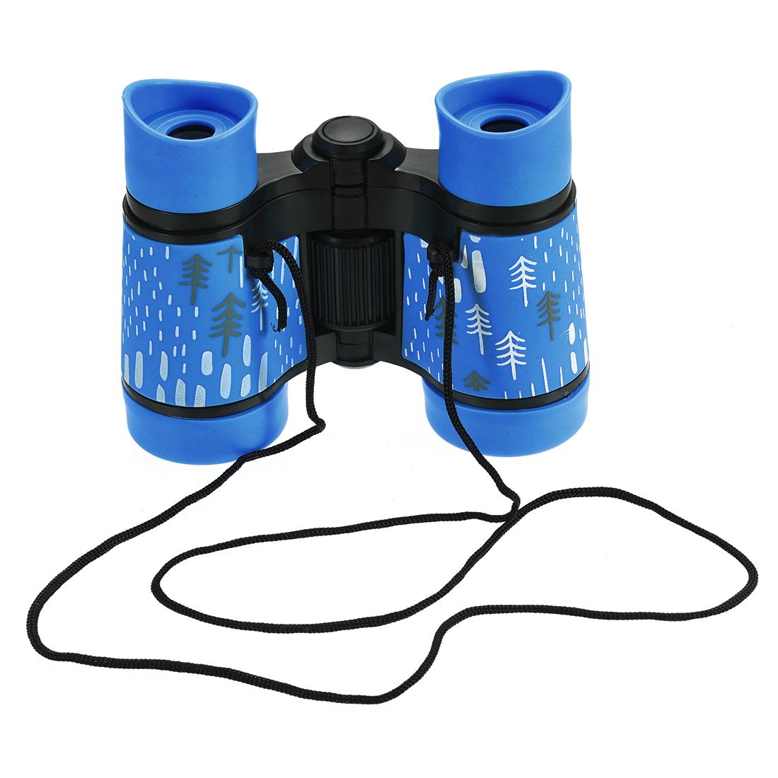 Toy Binoculars 4X30 Compact Folding Binoculars Sky Blue with Neck Strap