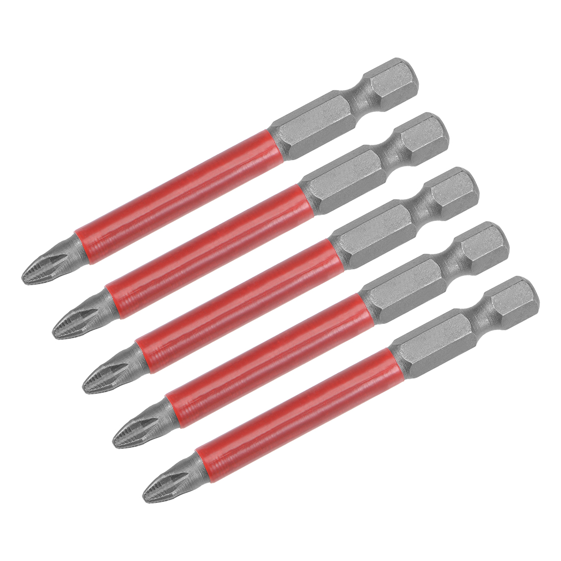 Phillips Bits 5pcs 1/4-Inch Hex Shank Magnetic PH2 Screwdriver Bit