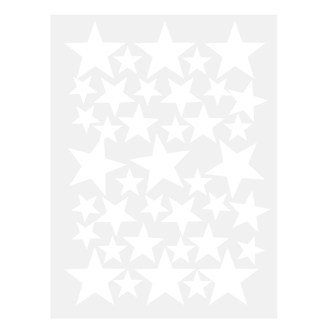 39pcs Star Pattern Wall Sticker Art Decal for Living Room Bedroom White