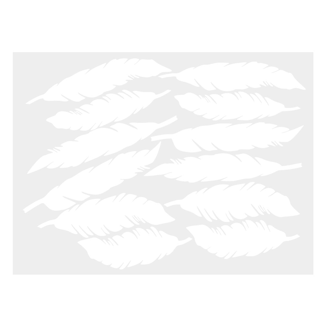 12pcs Feather Shape Wall Stickers Removable Art Decal for Living Room White