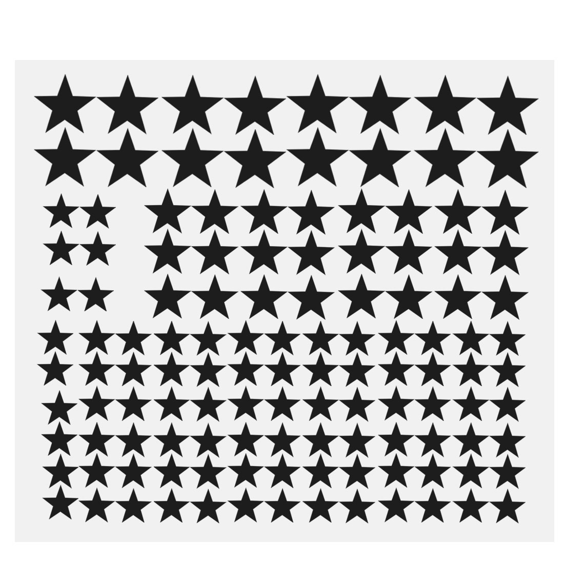110pcs Star Pattern Wall Stickers Removable Art Decal for Bedroom Black