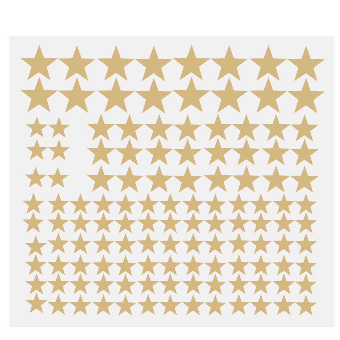 110pcs Star Pattern Wall Stickers Removable Art Decal for Bedroom Gold Tone