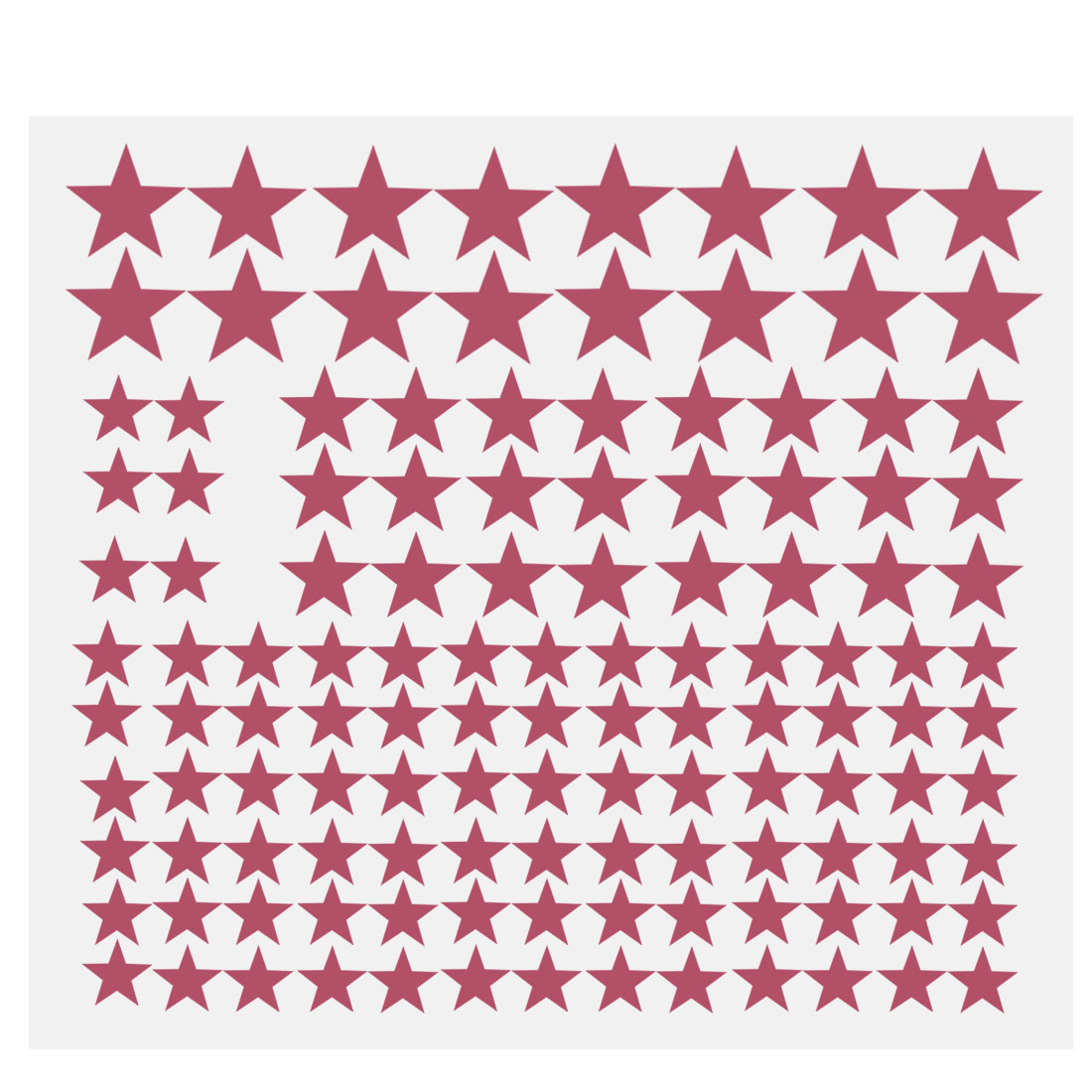 110pcs Star Pattern Wall Stickers Removable Art Decal for Bedroom Fuchsia