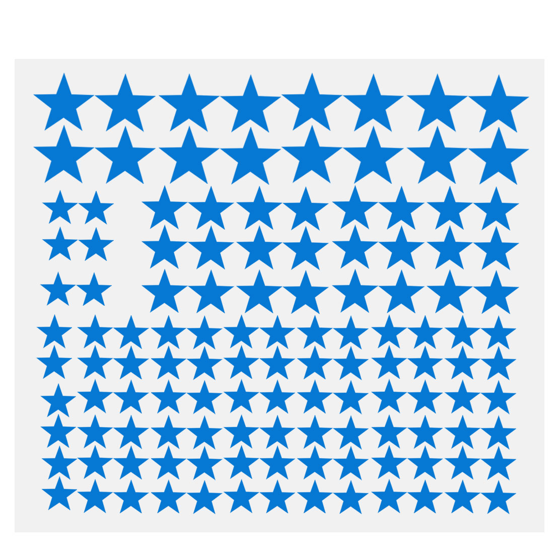 110pcs Star Pattern Wall Stickers Removable Art Decal for Bedroom Blue