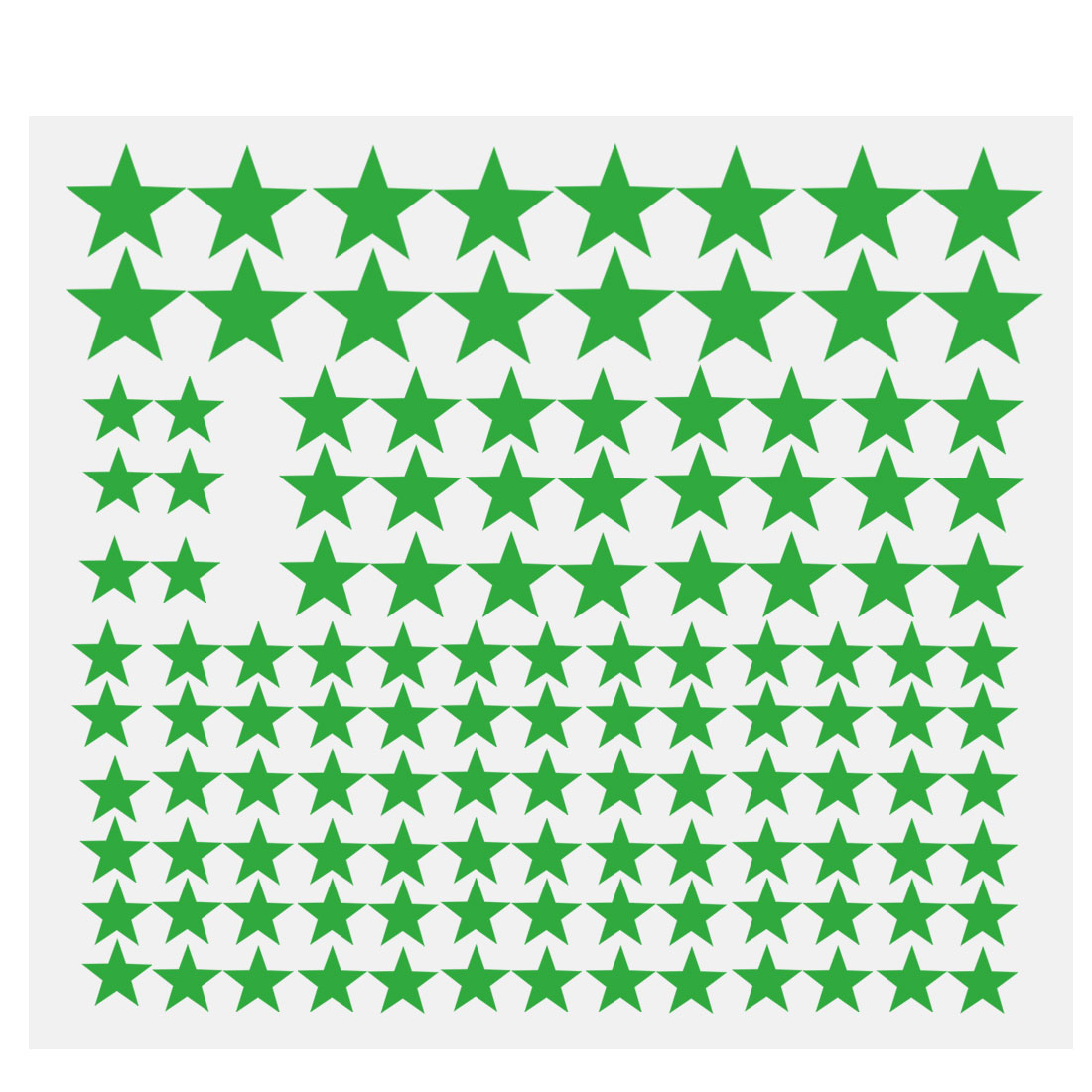 110pcs Star Pattern Wall Stickers Removable Art Decal for Bedroom Green