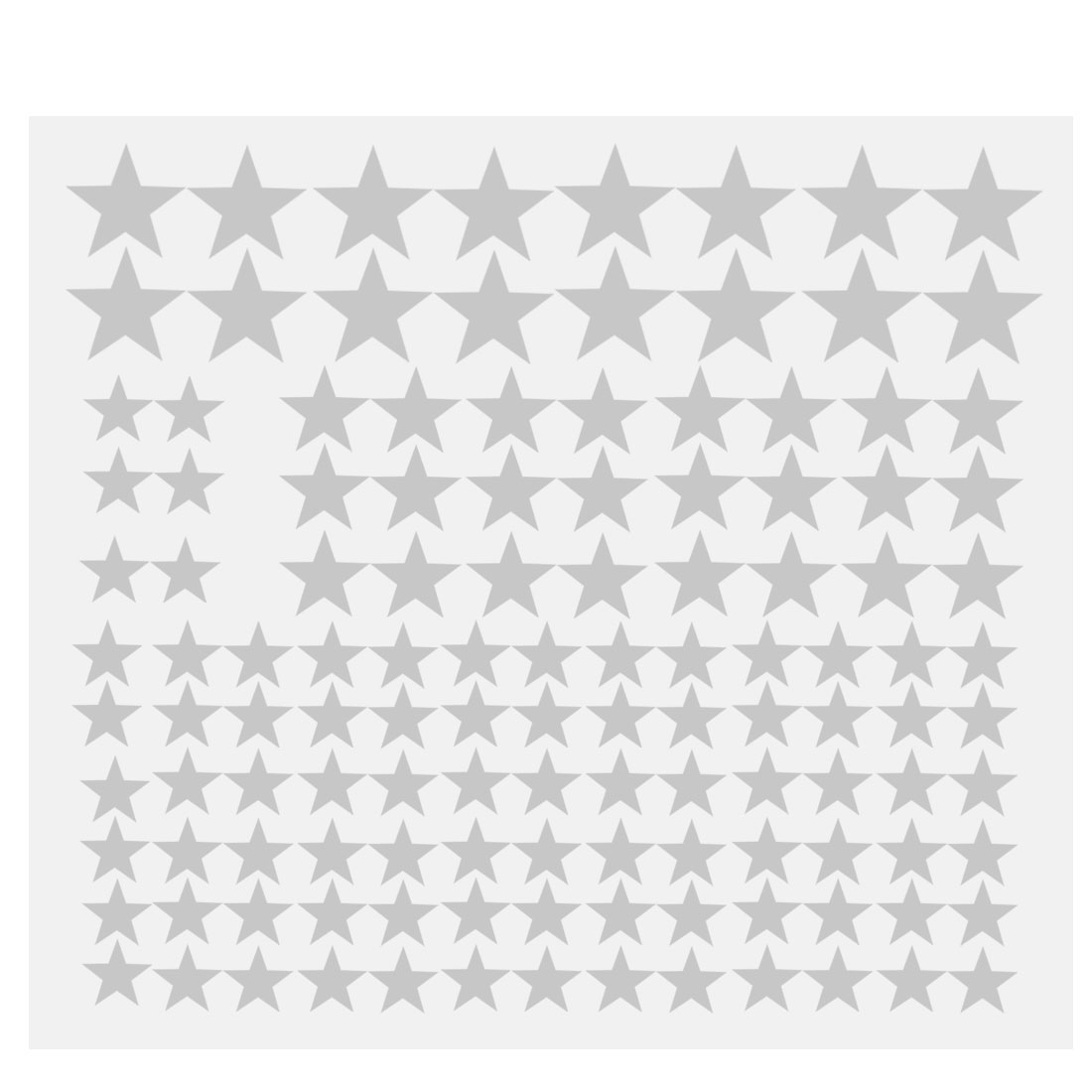 110pcs Star Pattern Wall Stickers Removable Art Decal for Bedroom Silver Tone