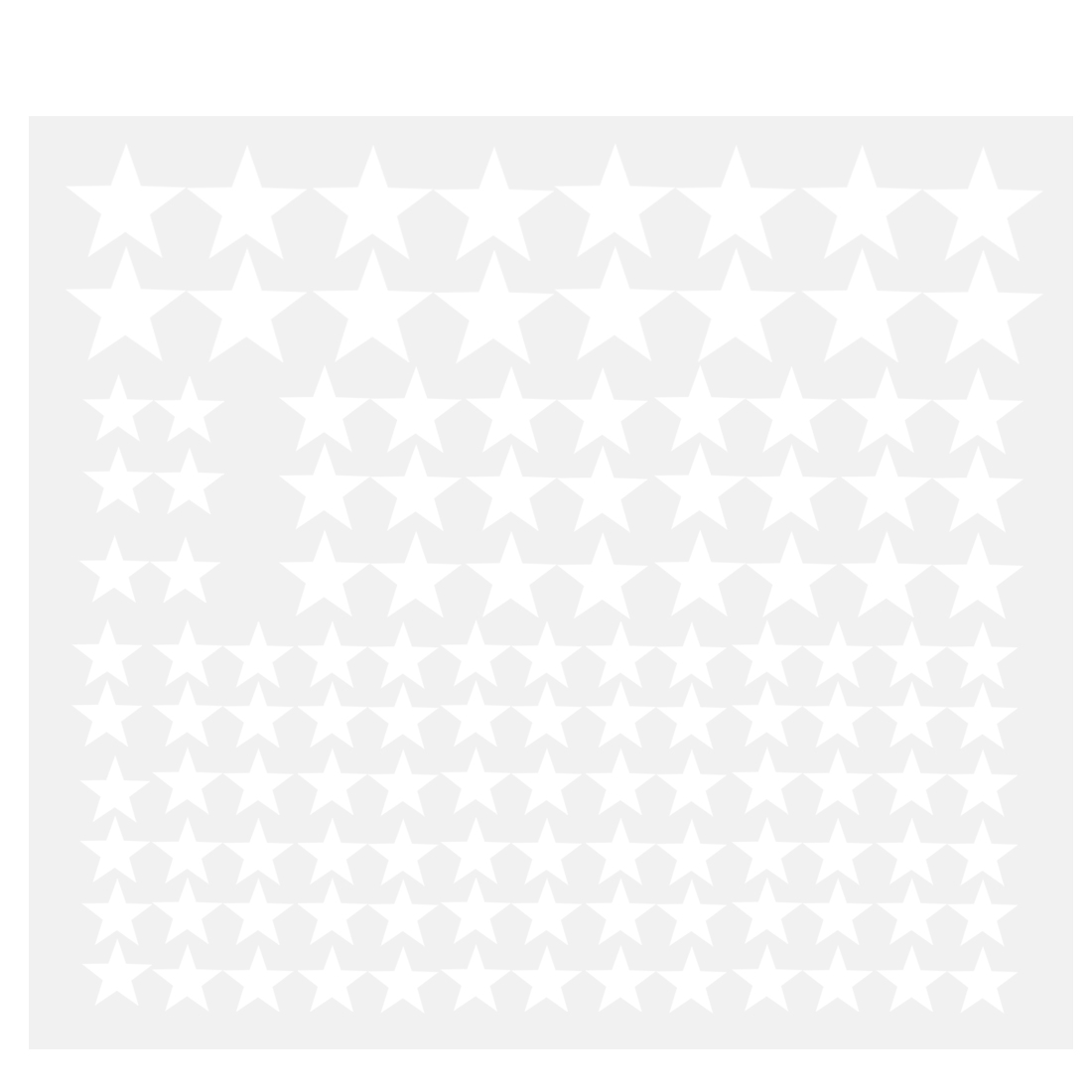 110pcs Star Pattern Wall Stickers Removable Art Decal for Bedroom White