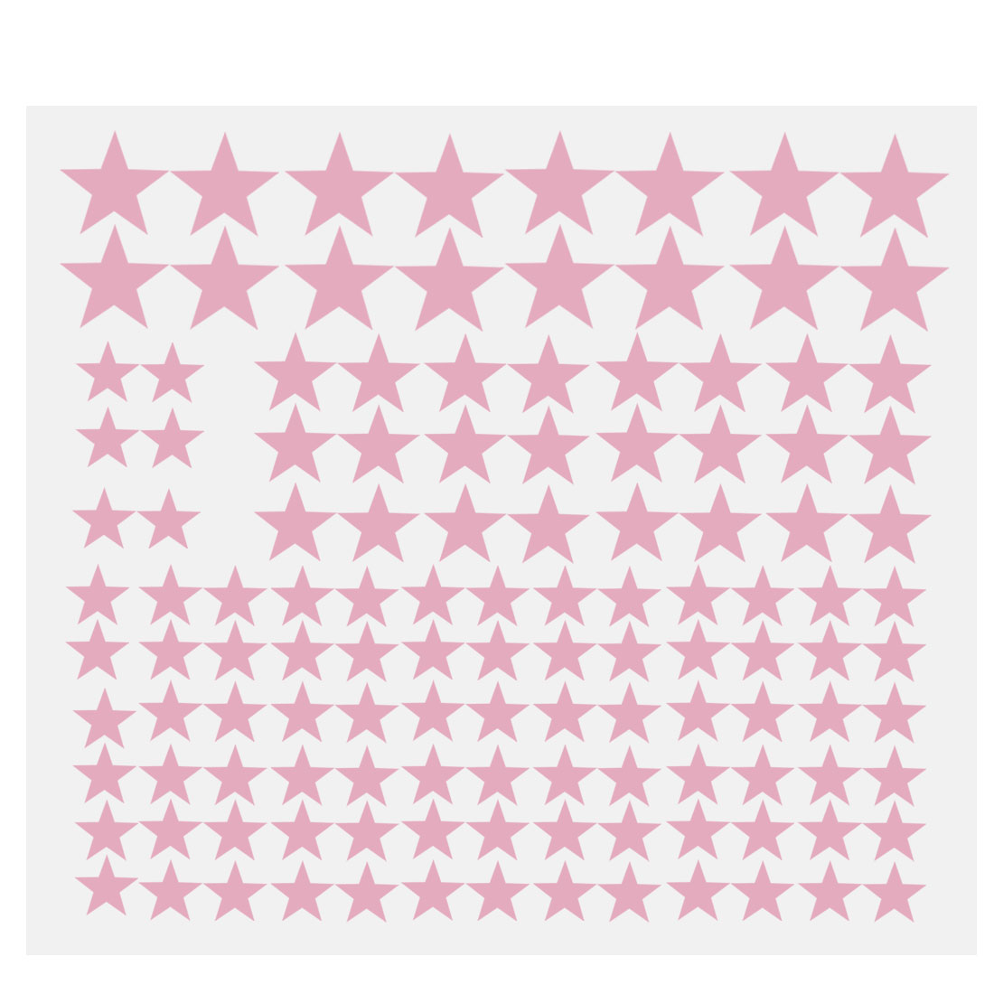 110pcs Star Pattern Wall Stickers Removable Art Decal for Bedroom Pink